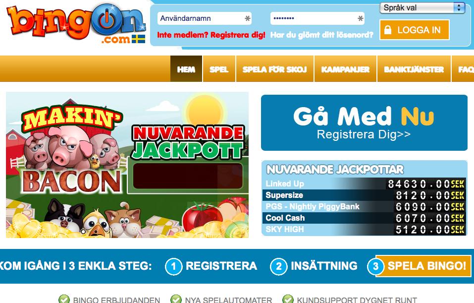 bingon-com hemsida