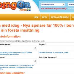 bingon.com registrera konto