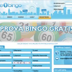 Blue1bingo registrera konto