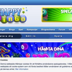 Happybingo hemsida