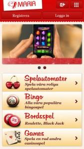 maria bingo i mobilen