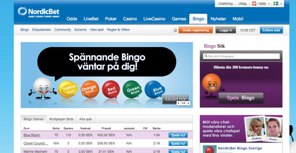 nordicbet bingo hemsida