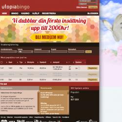 utopiabingo hemsida