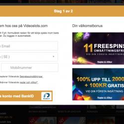 Videoslots öppna konto / registrera
